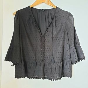 Madewell Open Sleeve Top with Dots